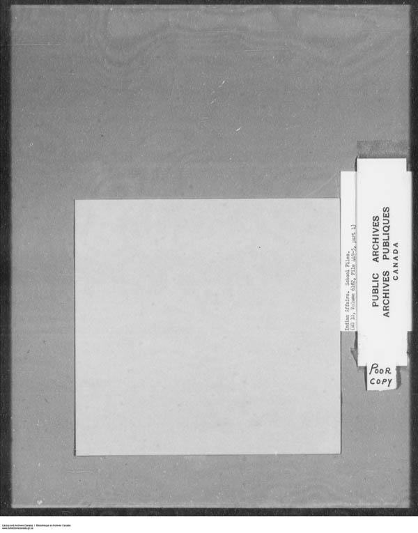 Title: School Files Series - 1879-1953 (RG10) - Mikan Number: 157505 - Microform: c-7919