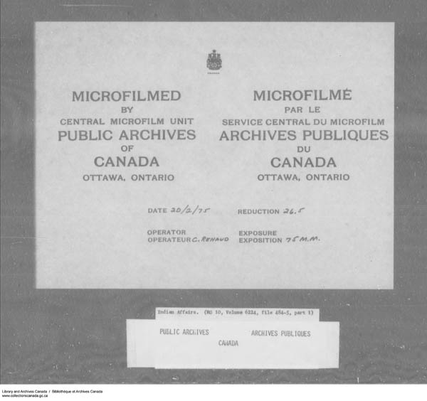 Title: School Files Series - 1879-1953 (RG10) - Mikan Number: 157505 - Microform: c-7951