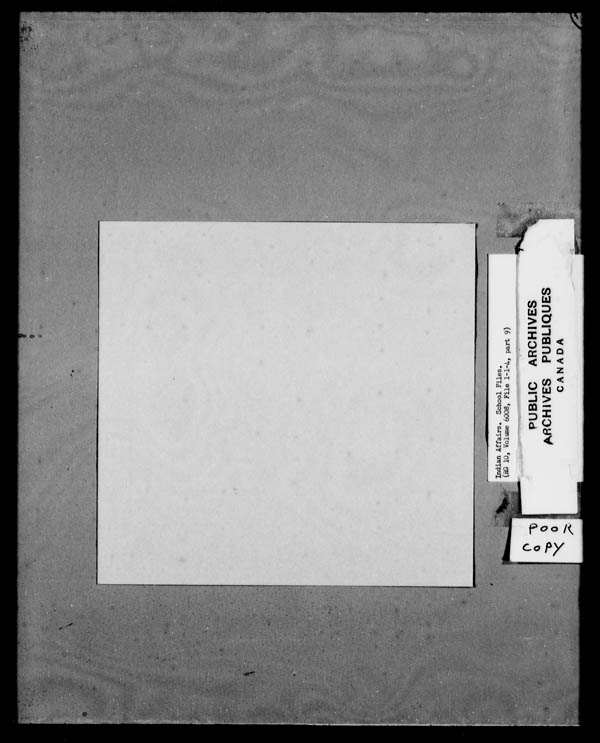 Title: School Files Series - 1879-1953 (RG10) - Mikan Number: 157505 - Microform: c-8138