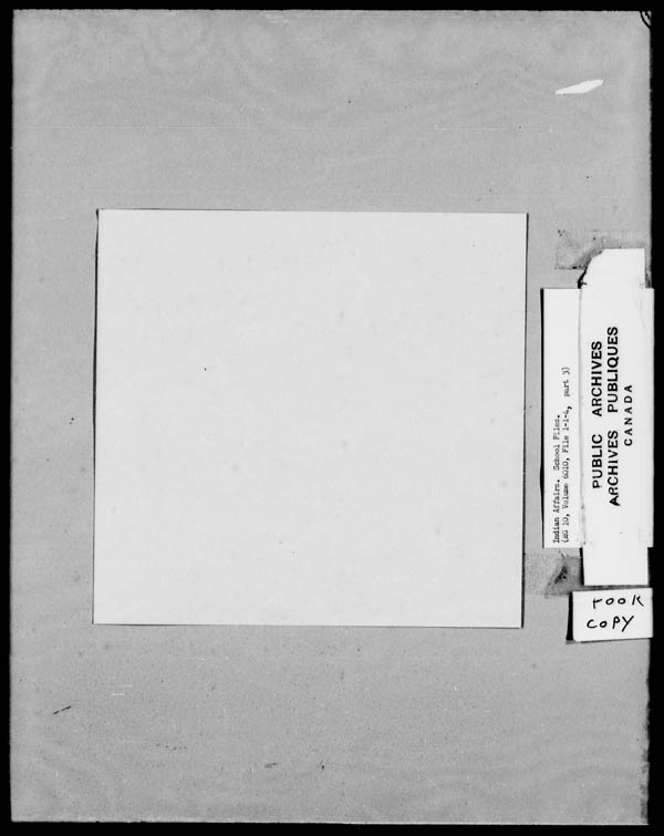 Title: School Files Series - 1879-1953 (RG10) - Mikan Number: 157505 - Microform: c-8139