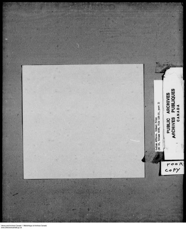 Title: School Files Series - 1879-1953 (RG10) - Mikan Number: 157505 - Microform: c-8148