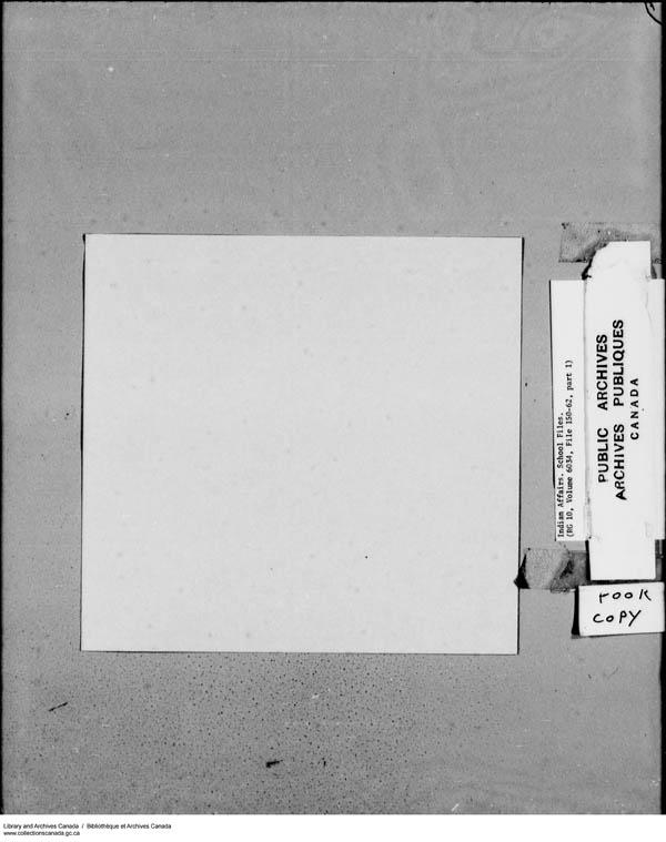 Title: School Files Series - 1879-1953 (RG10) - Mikan Number: 157505 - Microform: c-8150