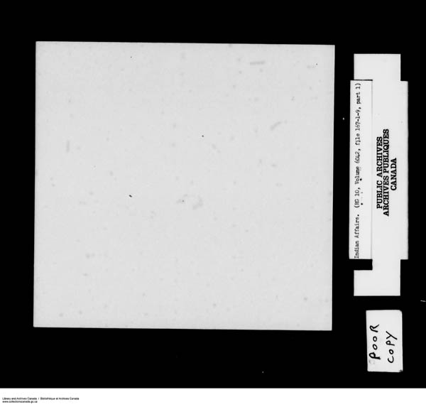 Title: School Files Series - 1879-1953 (RG10) - Mikan Number: 157505 - Microform: c-8154