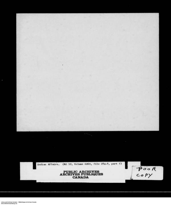 Title: School Files Series - 1879-1953 (RG10) - Mikan Number: 157505 - Microform: c-8167