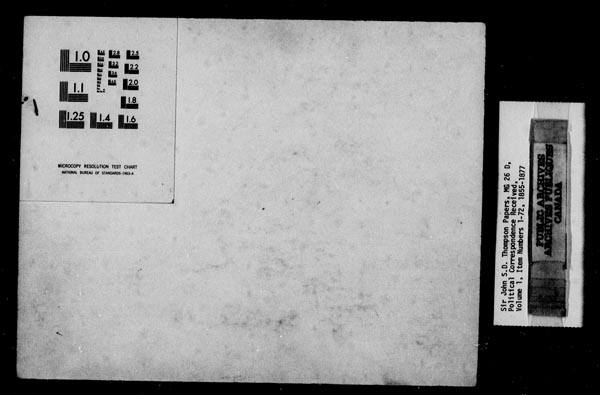 Title: Sir John Thompson fonds - Letters Received - Mikan Number: 123656 - Microform: c-9234