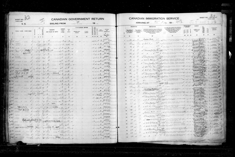 Titre: Listes de passagers : Ville de Québec (1925-1935) - N° d'enregistrement Mikan: 178851 - Microforme: t-14714