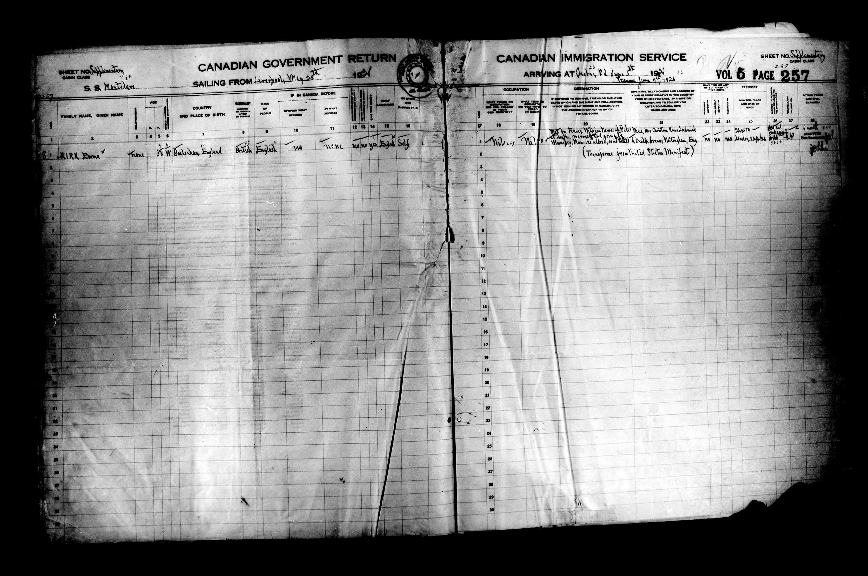 Title: Passenger Lists: Quebec City (1925-1935) - Mikan Number: 134839 - Microform: t-14722