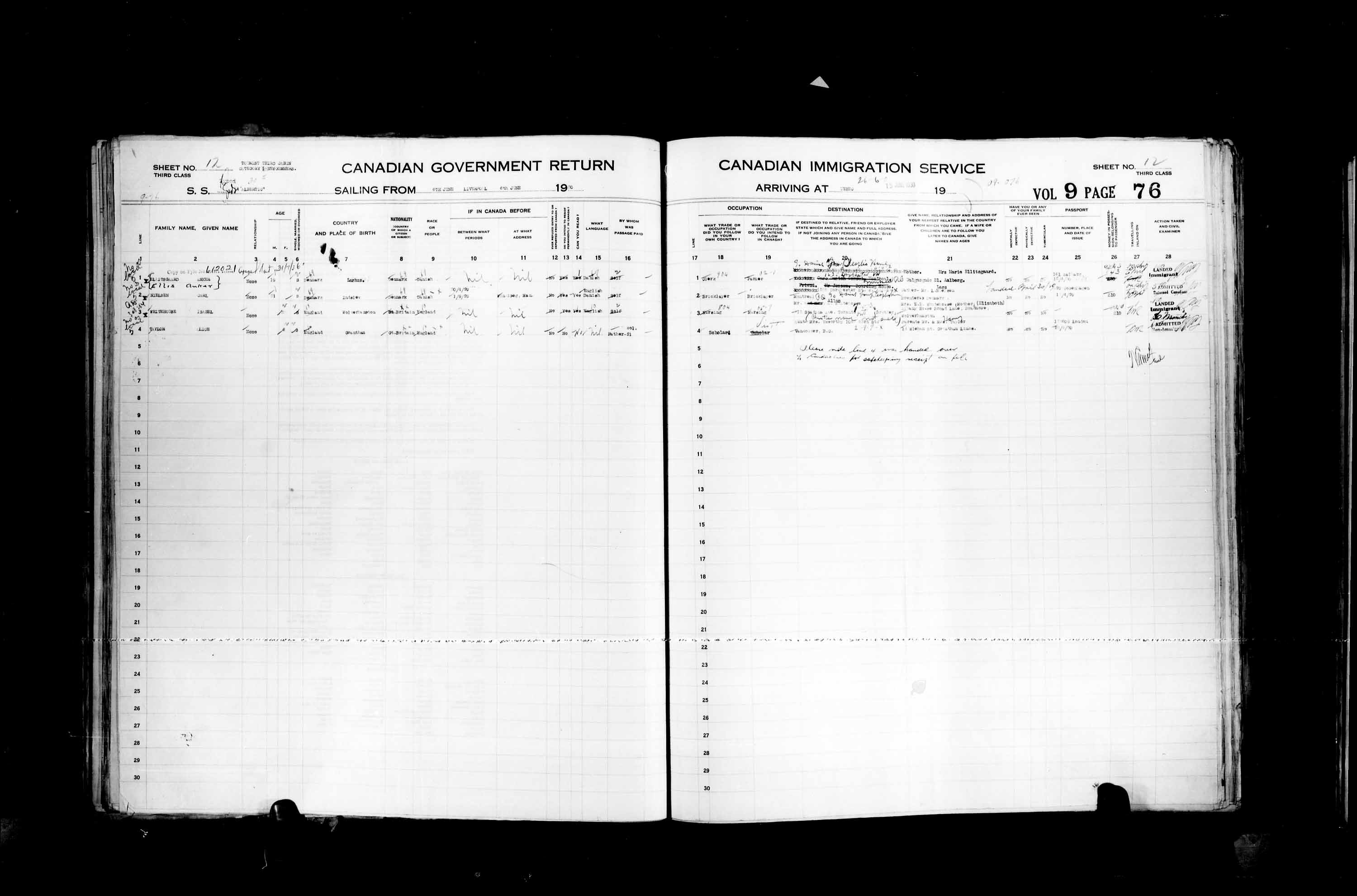 Title: Passenger Lists: Quebec City (1925-1935) - Mikan Number: 134839 - Microform: t-14765