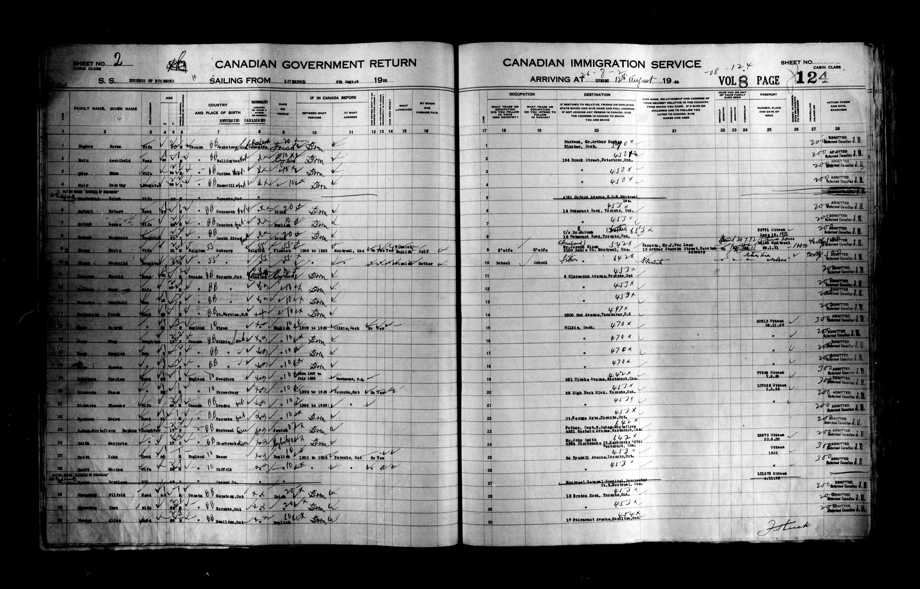 Title: Passenger Lists: Quebec City (1925-1935) - Mikan Number: 134839 - Microform: t-14780