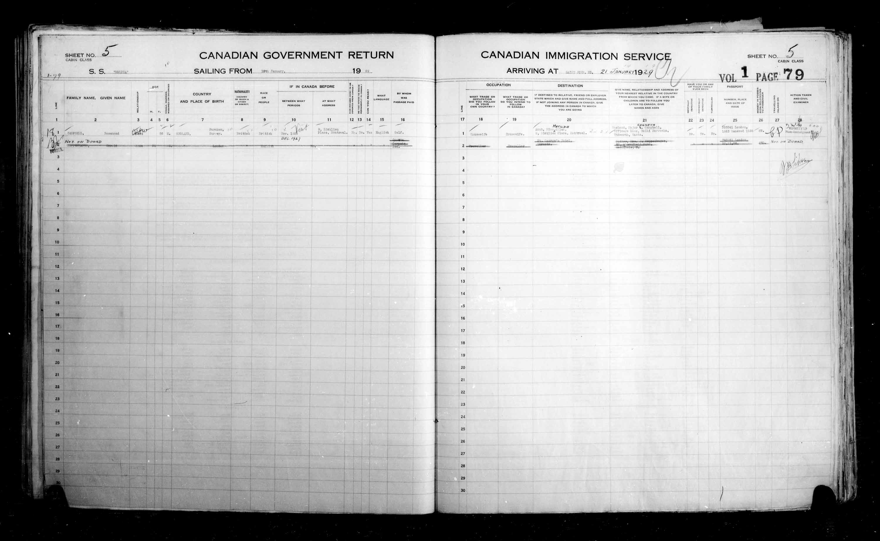 Title: Passenger Lists: Saint John (1925-1935) - Mikan Number: 134836 - Microform: t-14853