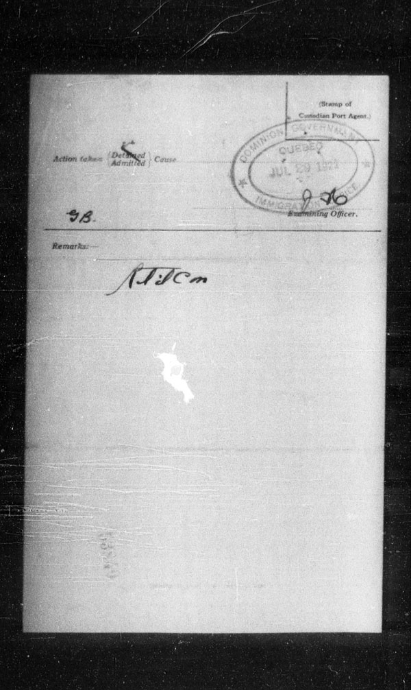 Title: Ocean Arrivals, Form 30A, 1919-1924 - Mikan Number: 161349 - Microform: t-14987