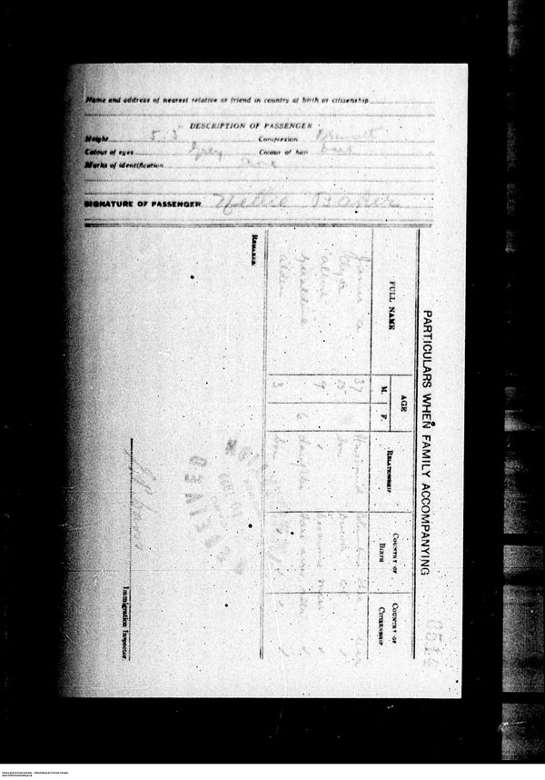 Title: Border Entry, Form 30, 1919-1924 - Mikan Number: 161377 - Microform: t-15253
