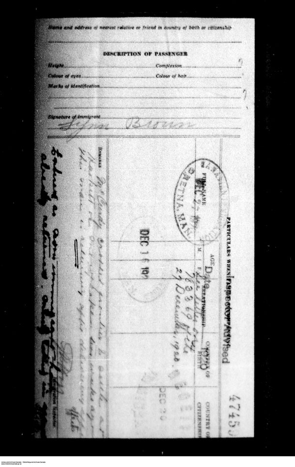 Title: Border Entry, Form 30, 1919-1924 - Mikan Number: 161377 - Microform: t-15261