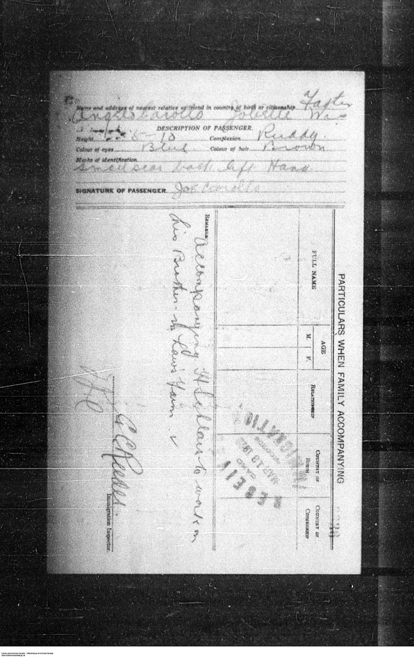 Title: Border Entry, Form 30, 1919-1924 - Mikan Number: 161377 - Microform: t-15263