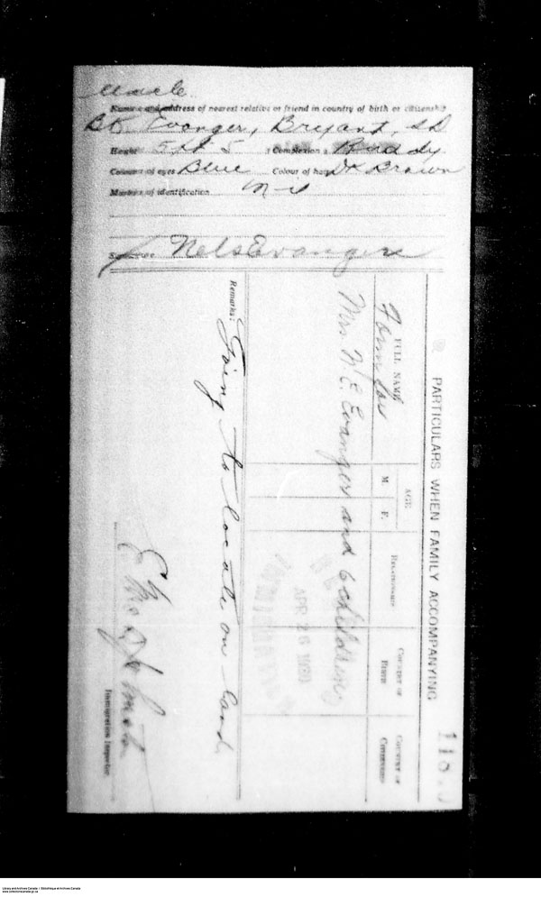 Title: Border Entry, Form 30, 1919-1924 - Mikan Number: 161377 - Microform: t-15276