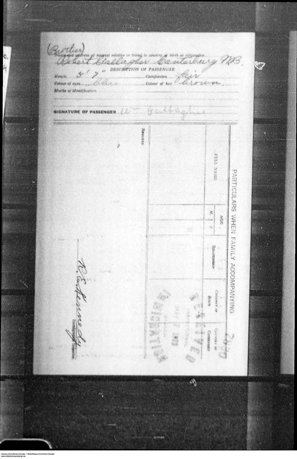 Title: Border Entry, Form 30, 1919-1924 - Mikan Number: 161377 - Microform: t-15280