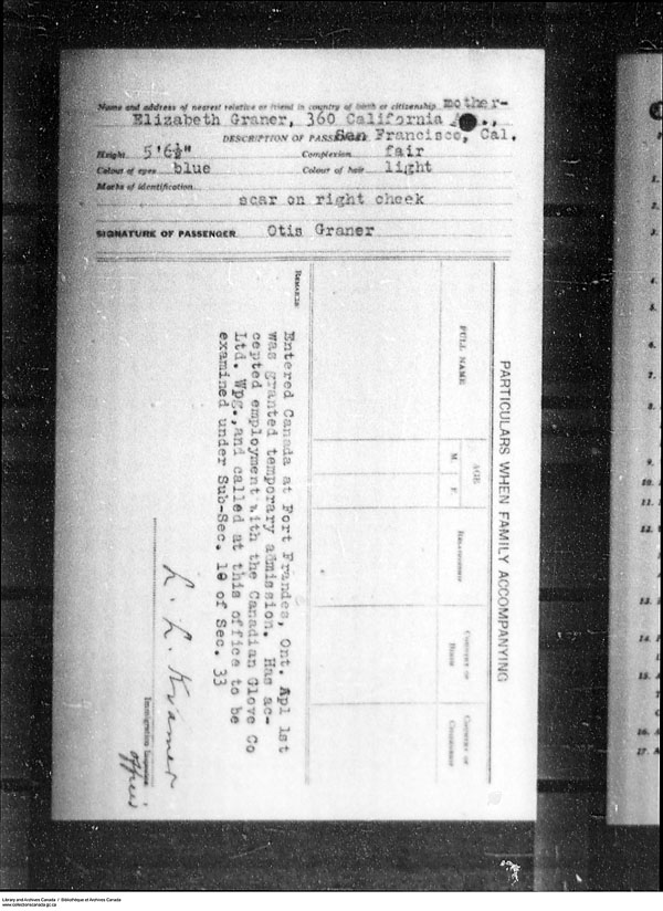 Title: Border Entry, Form 30, 1919-1924 - Mikan Number: 161377 - Microform: t-15283