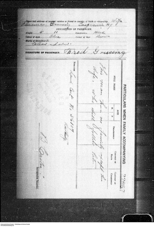 Title: Border Entry, Form 30, 1919-1924 - Mikan Number: 161377 - Microform: t-15285