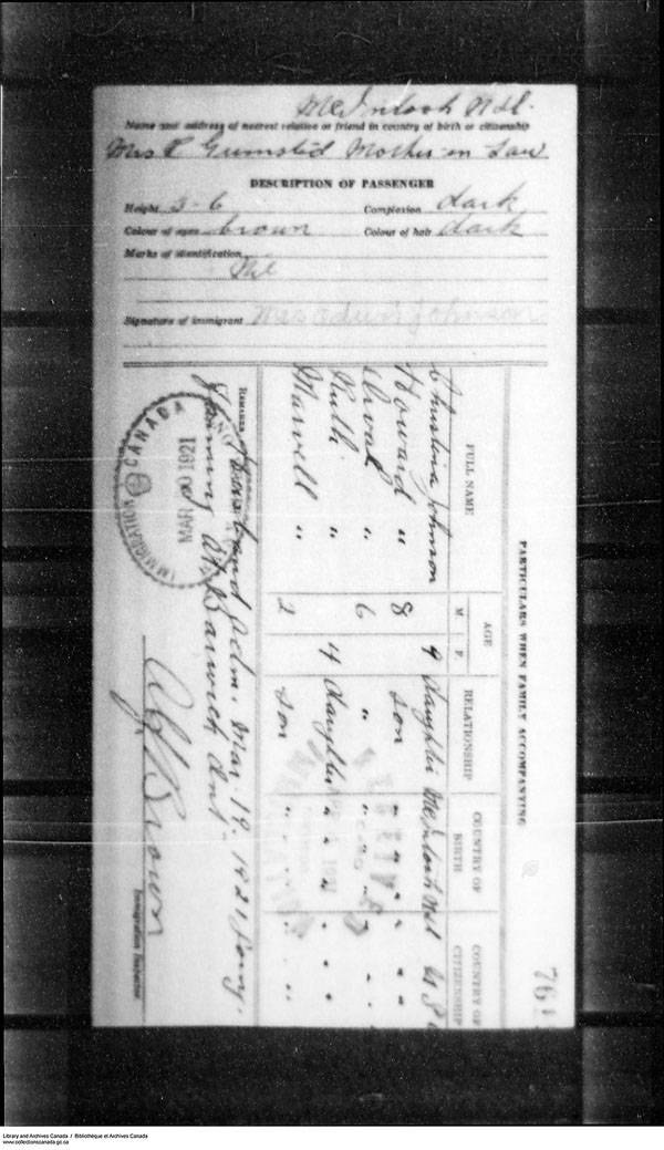 Title: Border Entry, Form 30, 1919-1924 - Mikan Number: 161377 - Microform: t-15293
