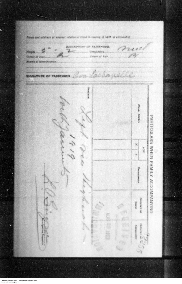 Title: Border Entry, Form 30, 1919-1924 - Mikan Number: 161377 - Microform: t-15297