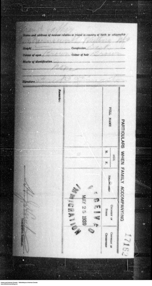 Title: Border Entry, Form 30, 1919-1924 - Mikan Number: 161377 - Microform: t-15302