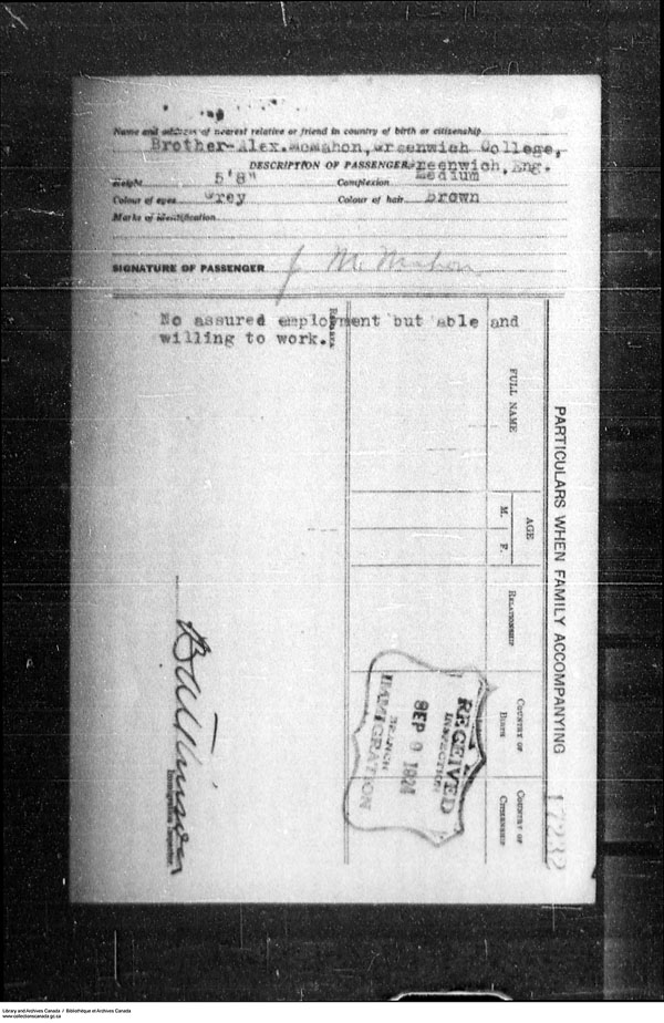 Title: Border Entry, Form 30, 1919-1924 - Mikan Number: 161377 - Microform: t-15308