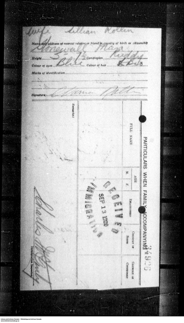 Title: Border Entry, Form 30, 1919-1924 - Mikan Number: 161377 - Microform: t-15324