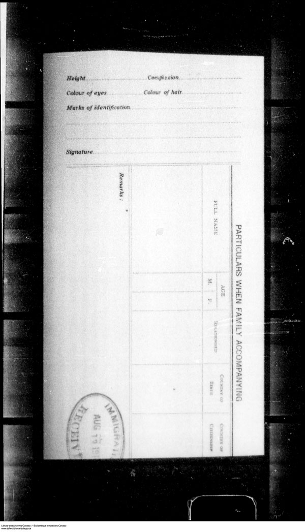 Title: Border Entry, Form 30, 1919-1924 - Mikan Number: 161377 - Microform: t-15328