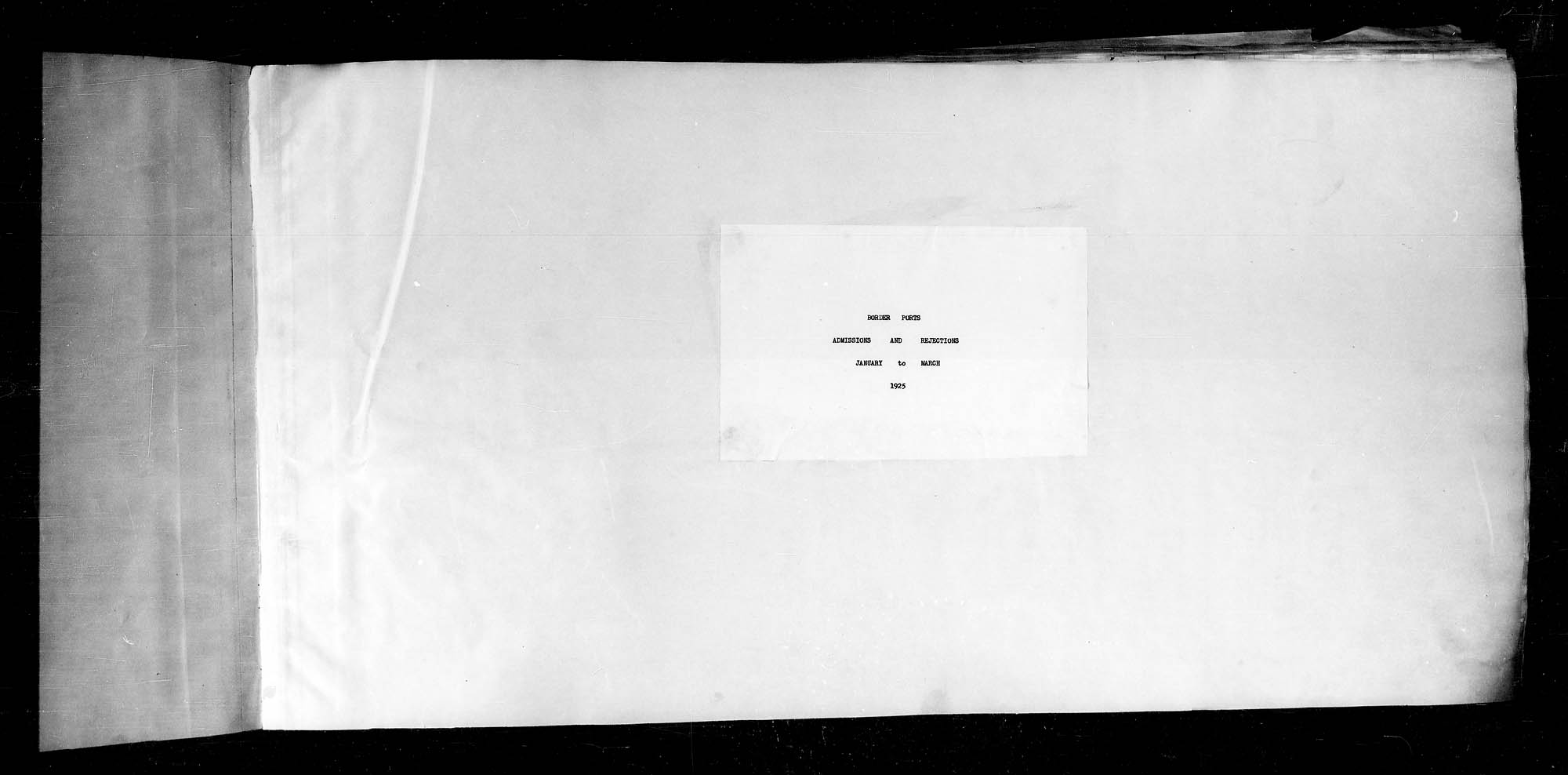 Title: Border Entry, 1925-1935 - Mikan Number: 134855 - Microform: t-15346
