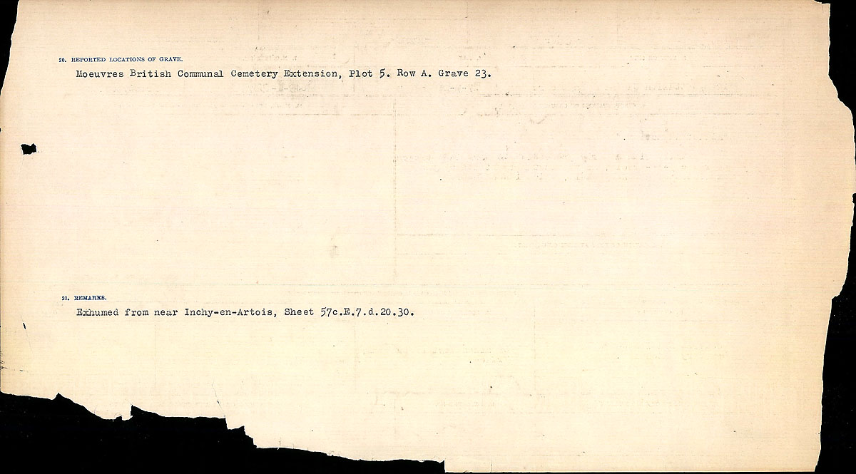 Title: Circumstances of Death Registers, First World War - Mikan Number: 46246 - Microform: 31829_B016686