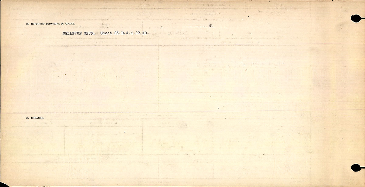 Title: Circumstances of Death Registers, First World War - Mikan Number: 46246 - Microform: 31829_B016701