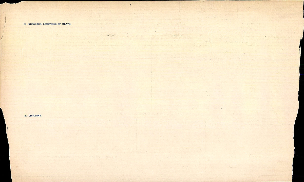Title: Circumstances of Death Registers, First World War - Mikan Number: 46246 - Microform: 31829_B016702