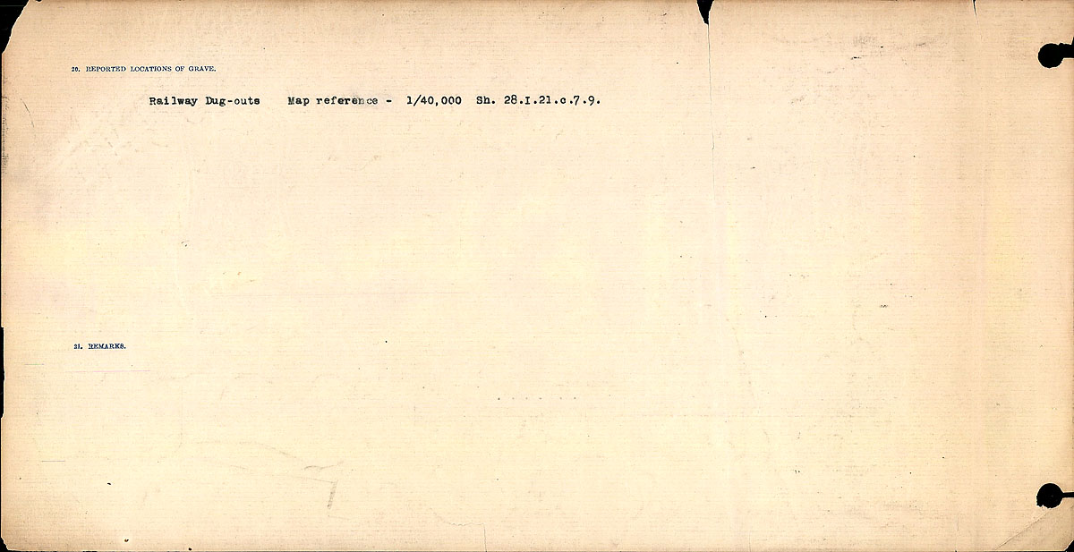 Title: Circumstances of Death Registers, First World War - Mikan Number: 46246 - Microform: 31829_B016712