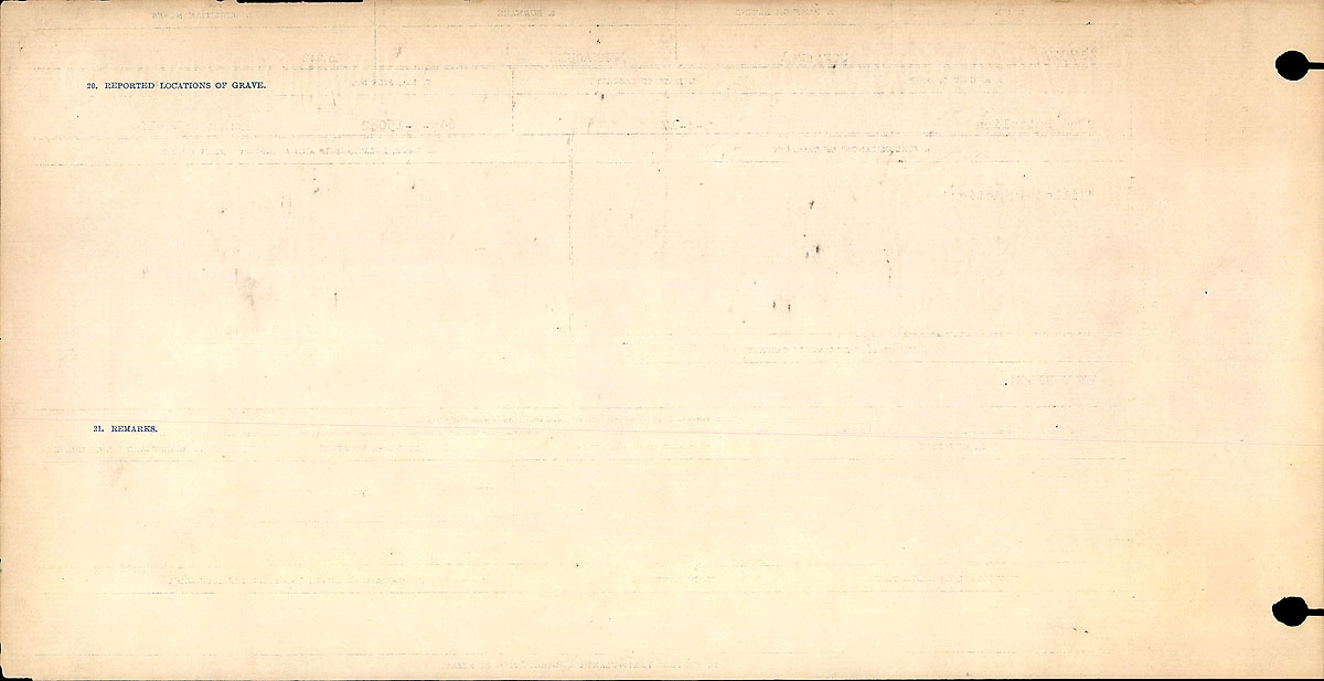 Title: Circumstances of Death Registers, First World War - Mikan Number: 46246 - Microform: 31829_B016718