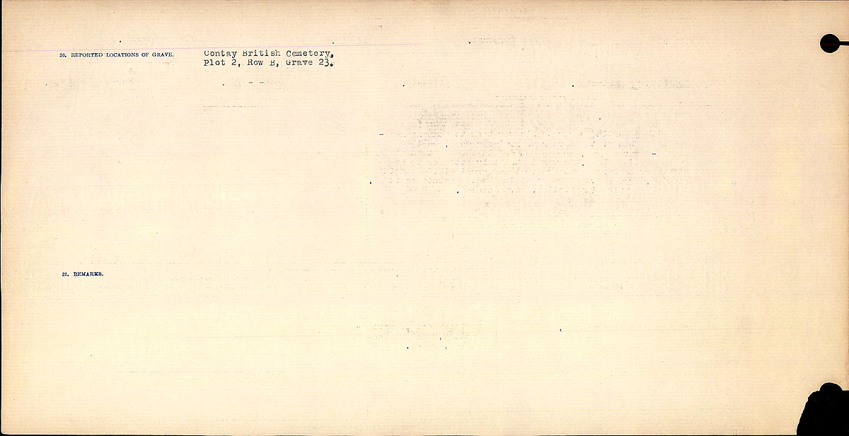 Title: Circumstances of Death Registers, First World War - Mikan Number: 46246 - Microform: 31829_B016750