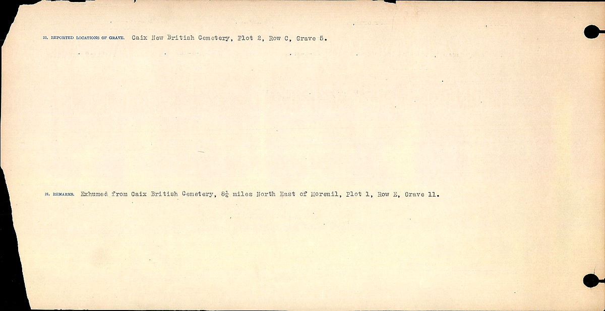 Title: Circumstances of Death Registers, First World War - Mikan Number: 46246 - Microform: 31829_B016756