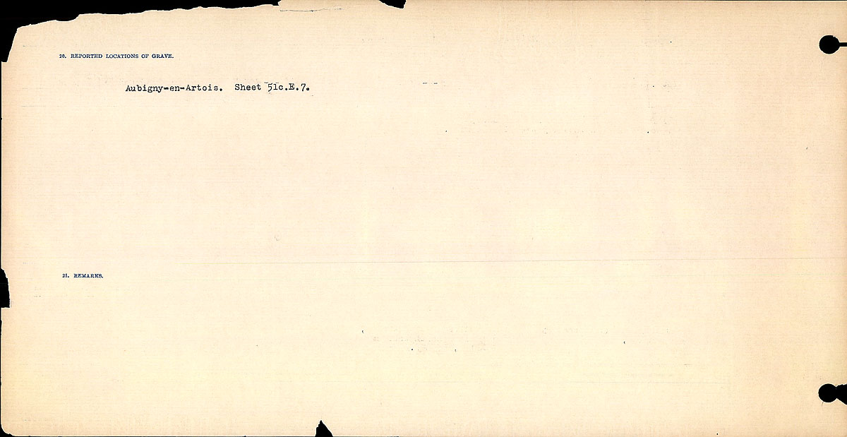 Title: Circumstances of Death Registers, First World War - Mikan Number: 46246 - Microform: 31829_B016763
