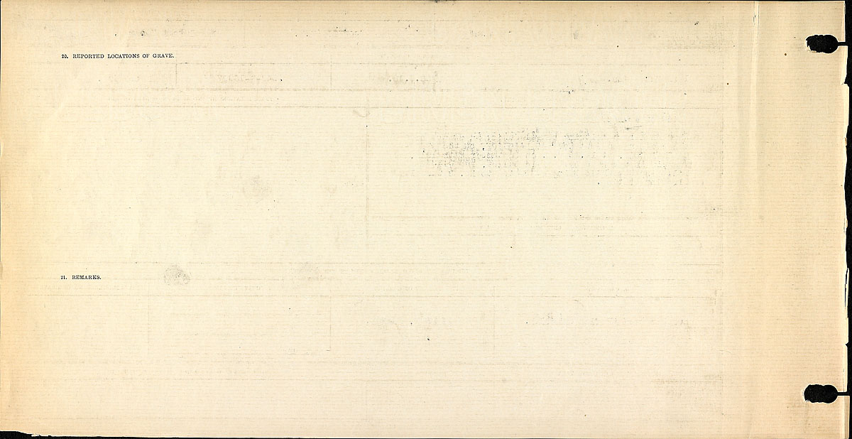 Title: Circumstances of Death Registers, First World War - Mikan Number: 46246 - Microform: 31829_B034749