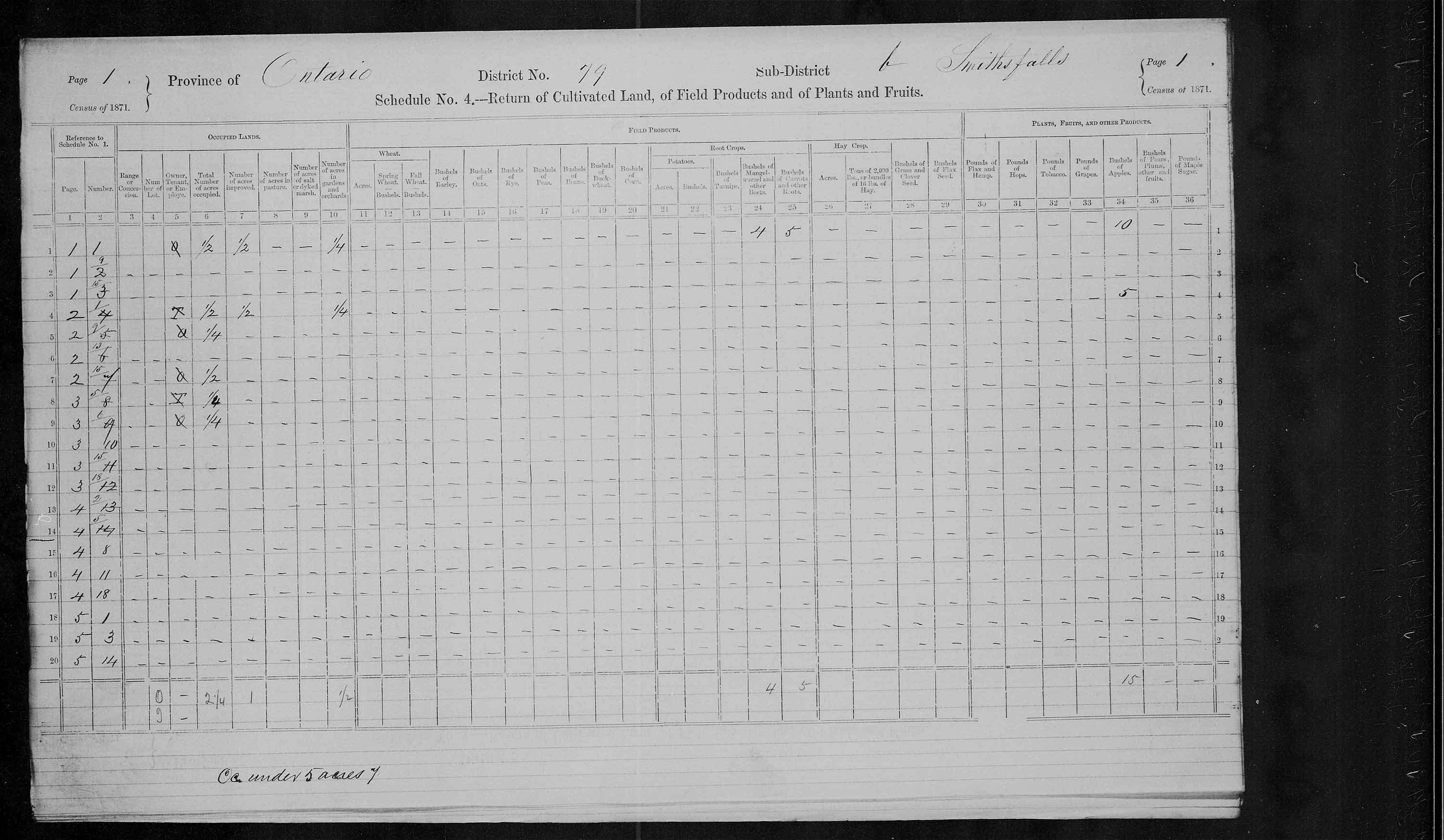 Title: Census of Canada, 1871 - Mikan Number: 142105 - Microform: c-10017