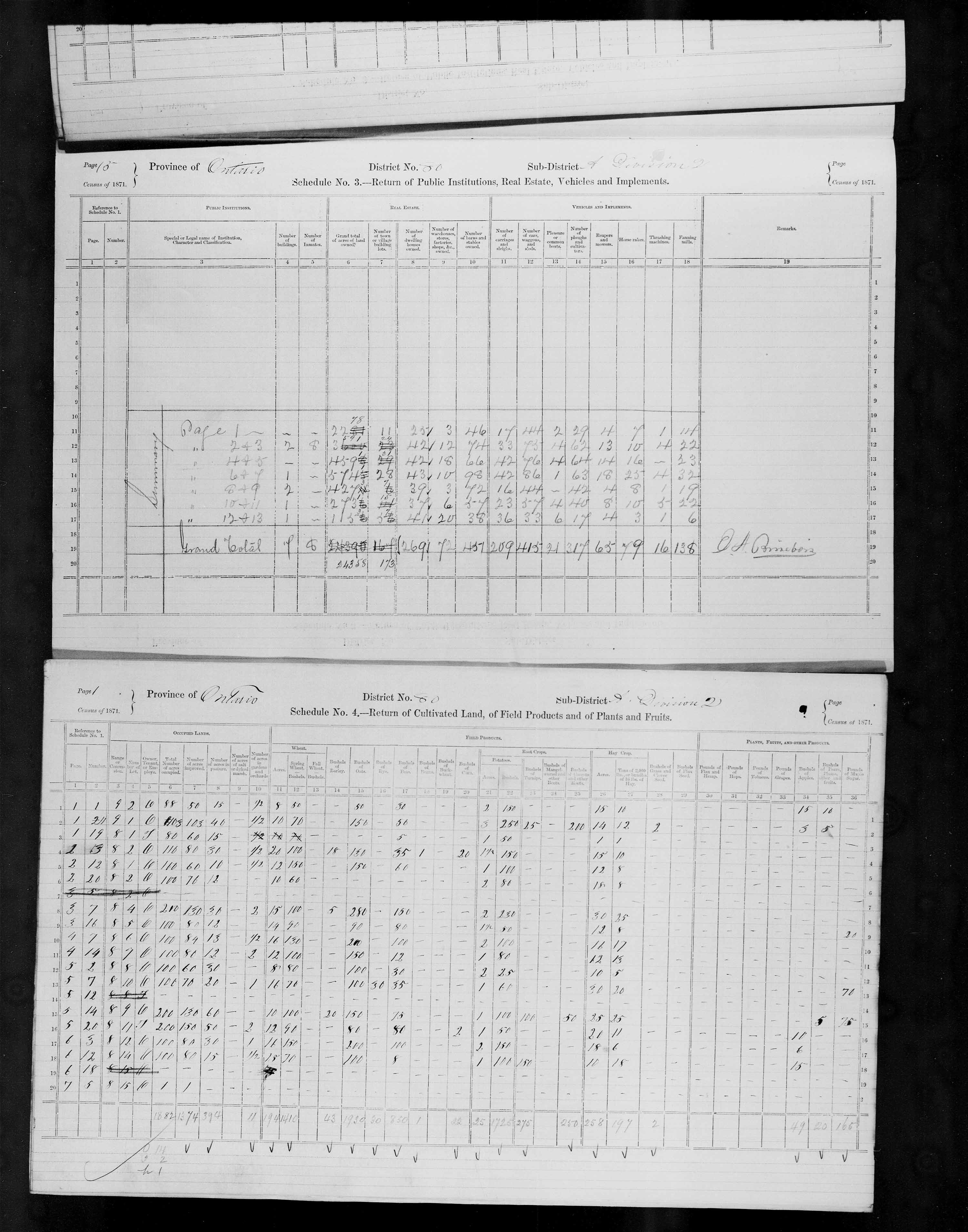 Title: Census of Canada, 1871 - Mikan Number: 142105 - Microform: c-10018