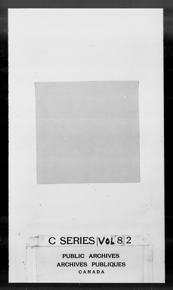Title: British Military and Naval Records (RG 8, C Series) - DOCUMENTS - Mikan Number: 105012 - Microform: c-2644