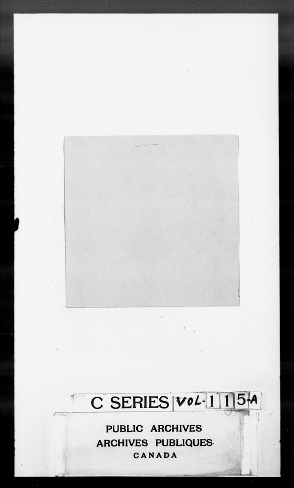 Title: British Military and Naval Records (RG 8, C Series) - DOCUMENTS - Mikan Number: 105012 - Microform: c-2680