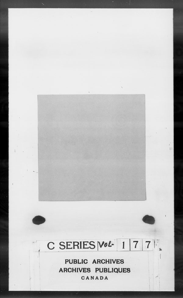 Title: British Military and Naval Records (RG 8, C Series) - DOCUMENTS - Mikan Number: 105012 - Microform: c-2777