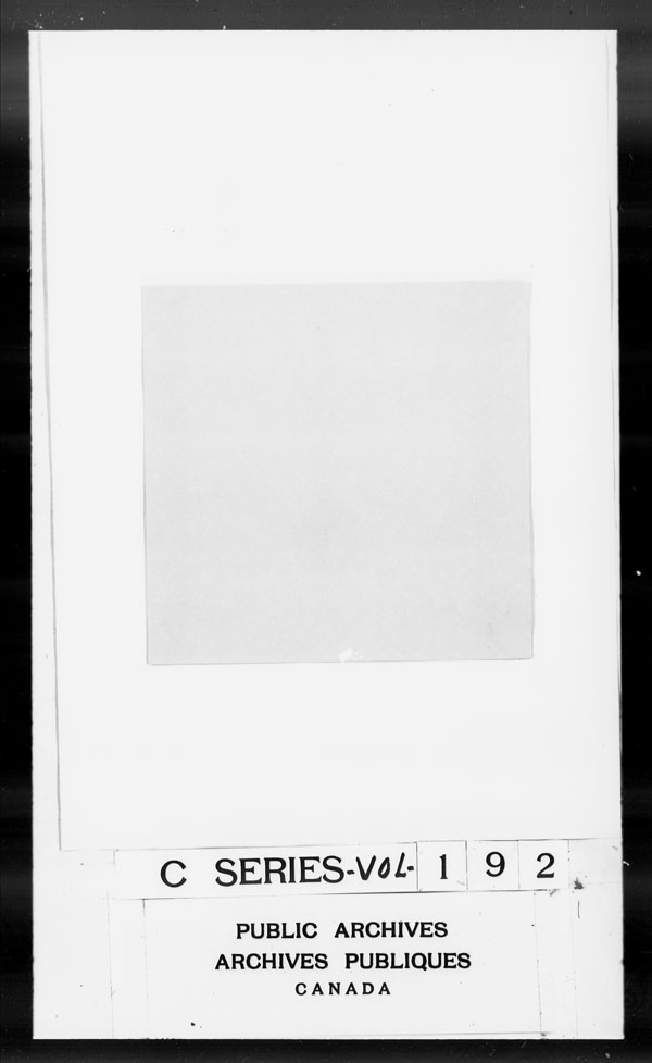 Title: British Military and Naval Records (RG 8, C Series) - DOCUMENTS - Mikan Number: 105012 - Microform: c-2780