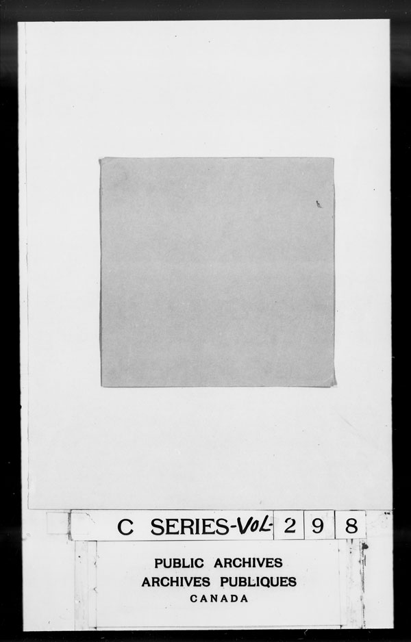 Title: British Military and Naval Records (RG 8, C Series) - DOCUMENTS - Mikan Number: 105012 - Microform: c-2866