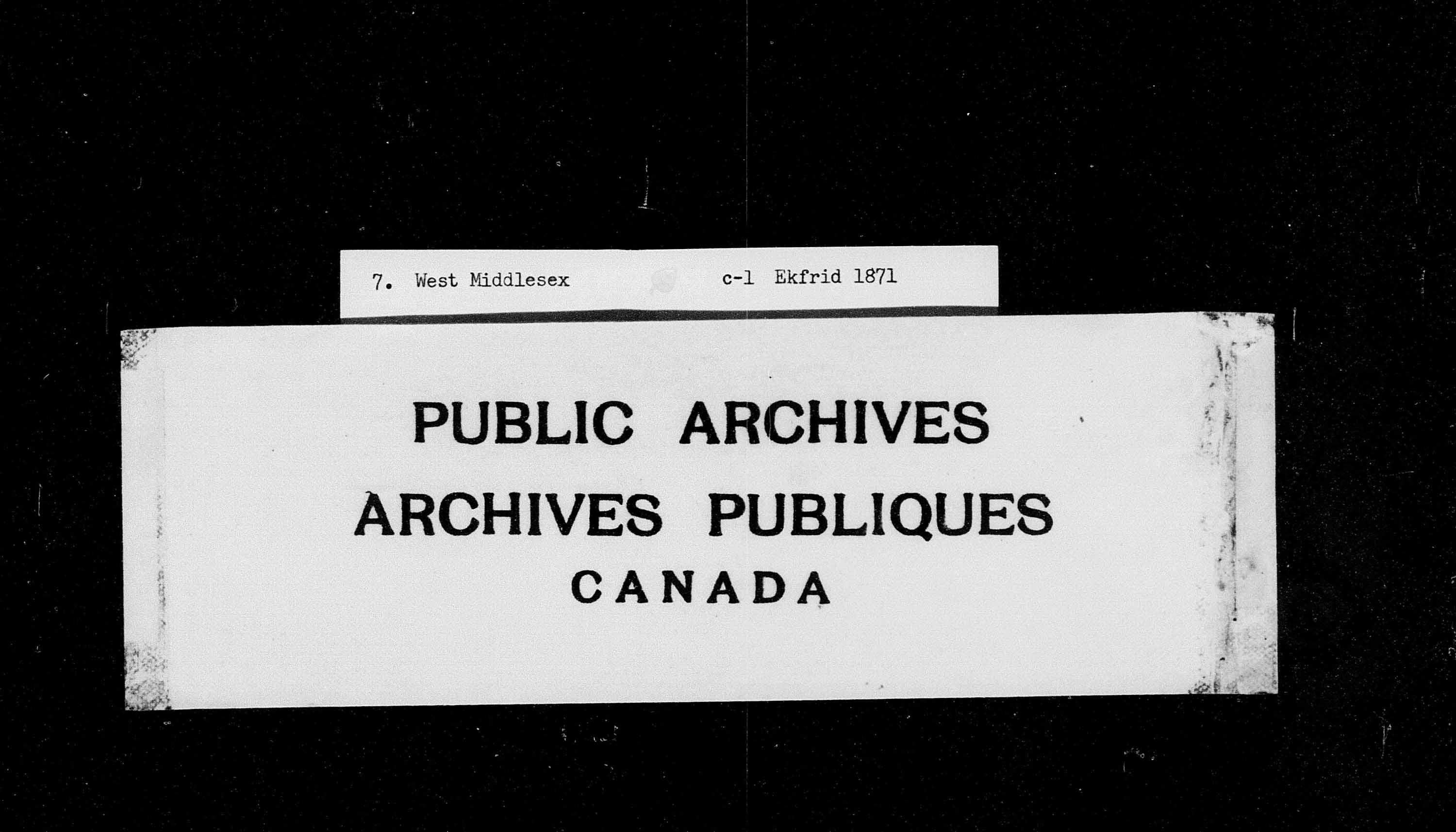 Title: Census of Canada, 1871 - Mikan Number: 142105 - Microform: c-9900