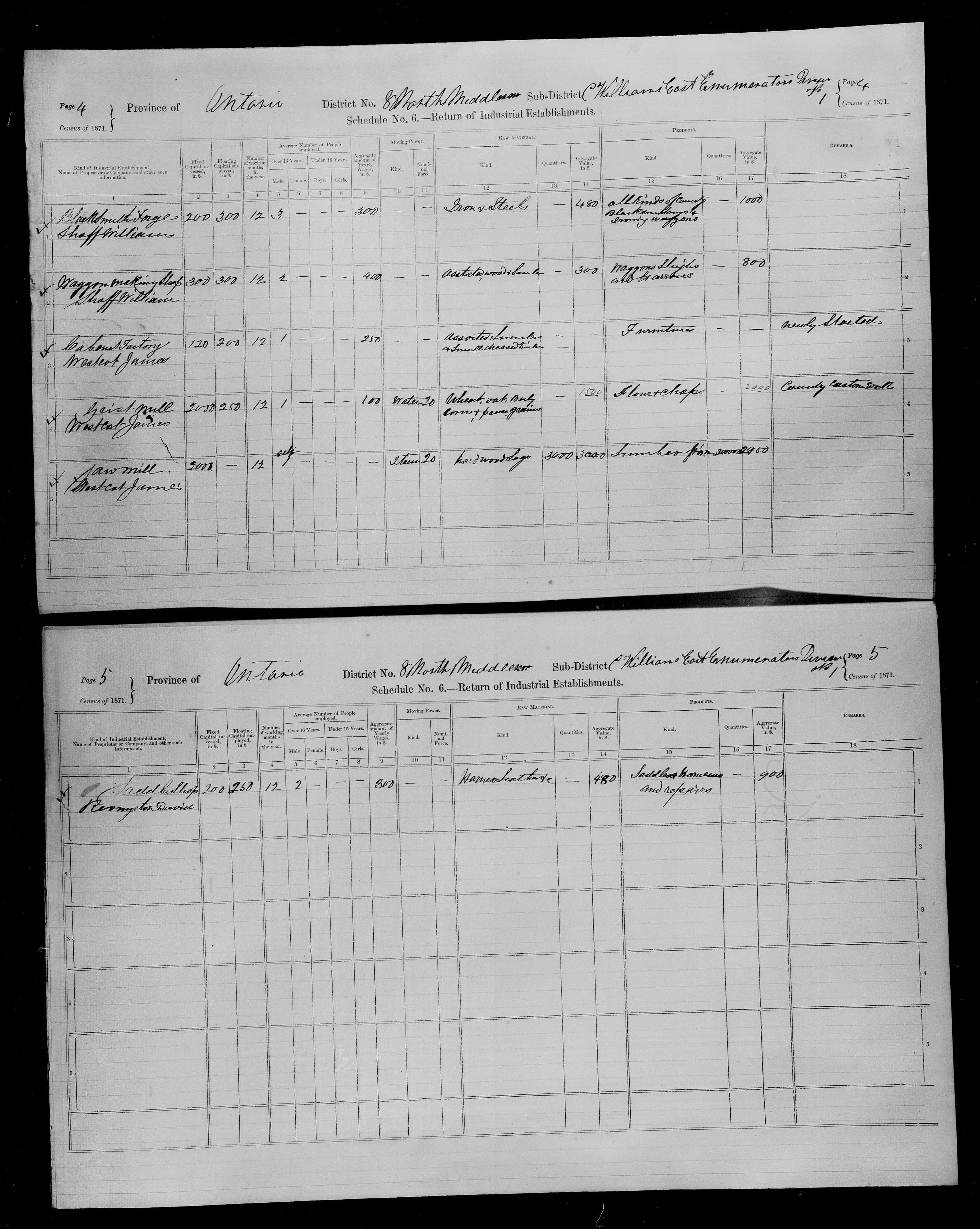 Title: Census of Canada, 1871 - Mikan Number: 142105 - Microform: c-9902
