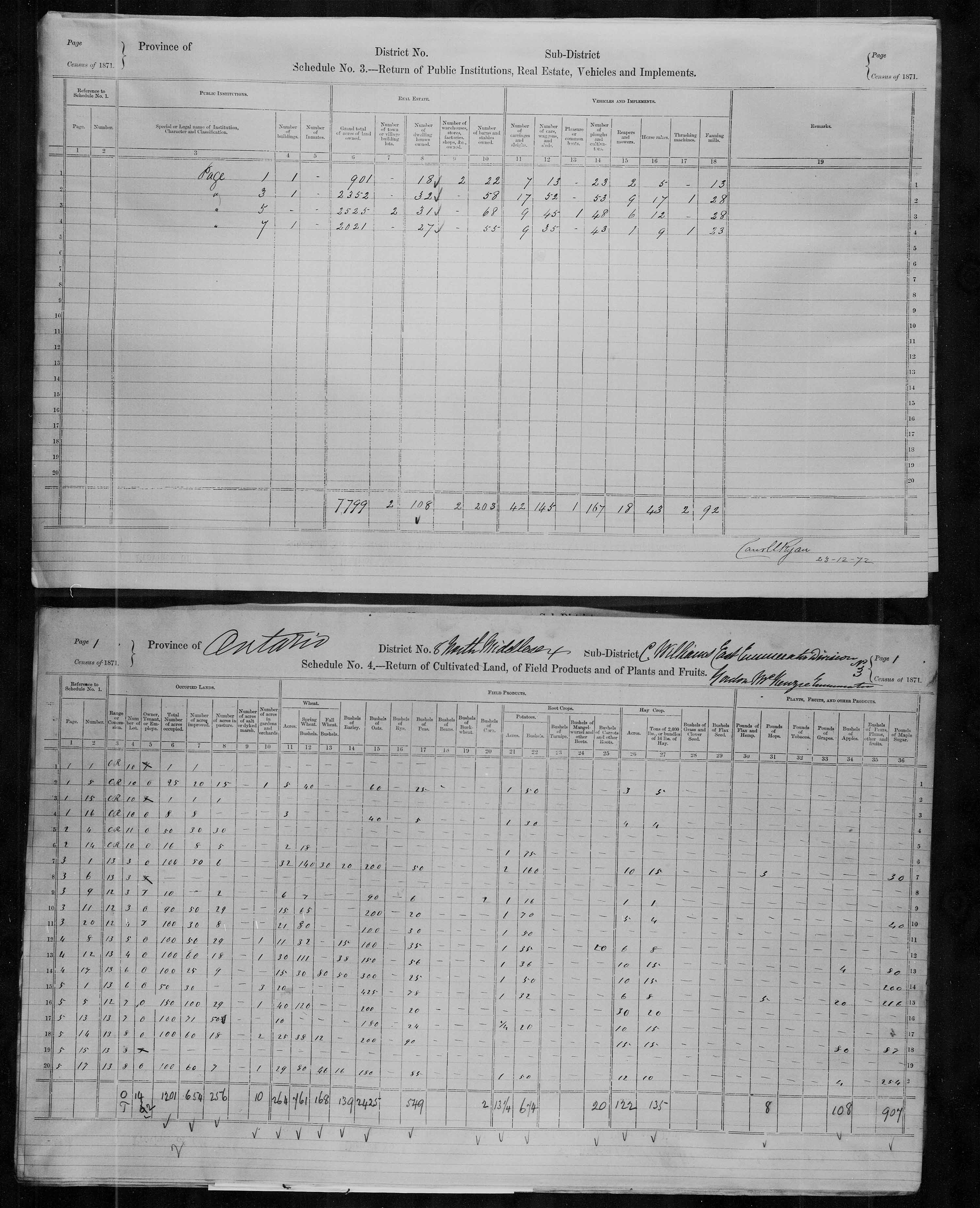 Title: Census of Canada, 1871 - Mikan Number: 142105 - Microform: c-9903