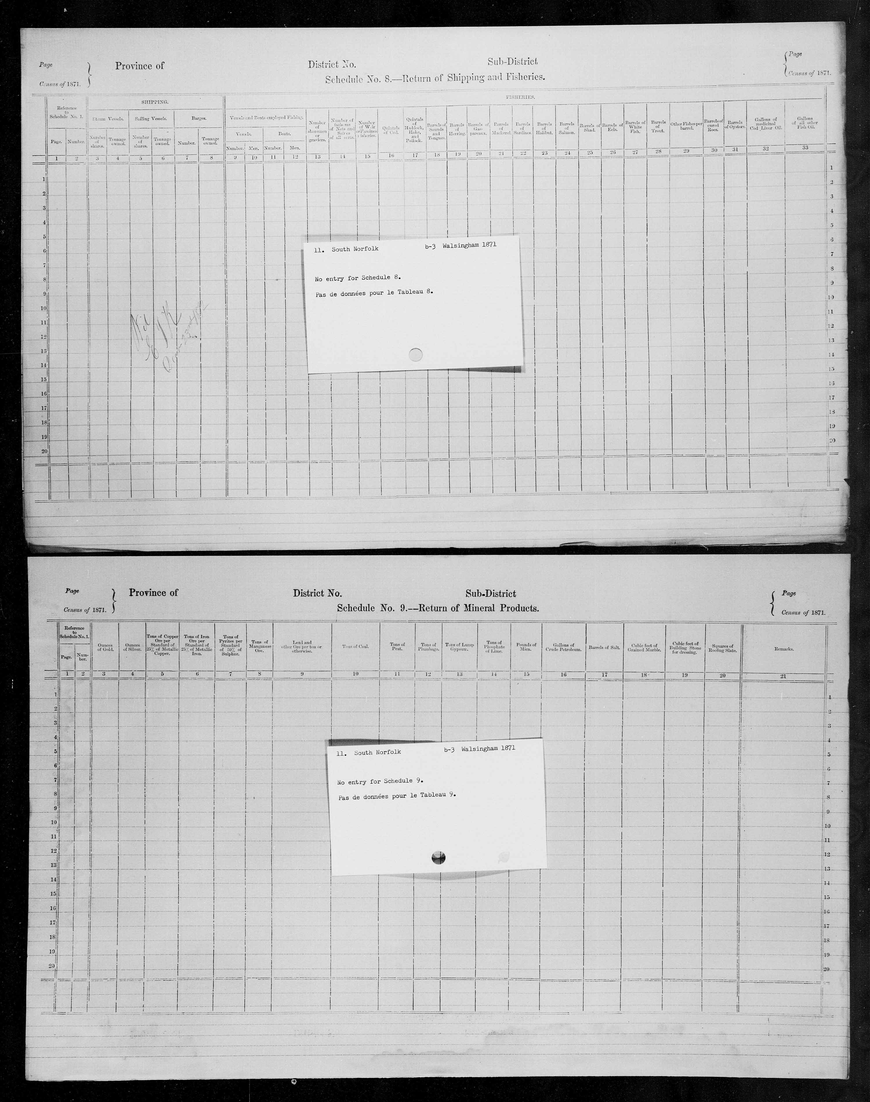 Title: Census of Canada, 1871 - Mikan Number: 142105 - Microform: c-9907