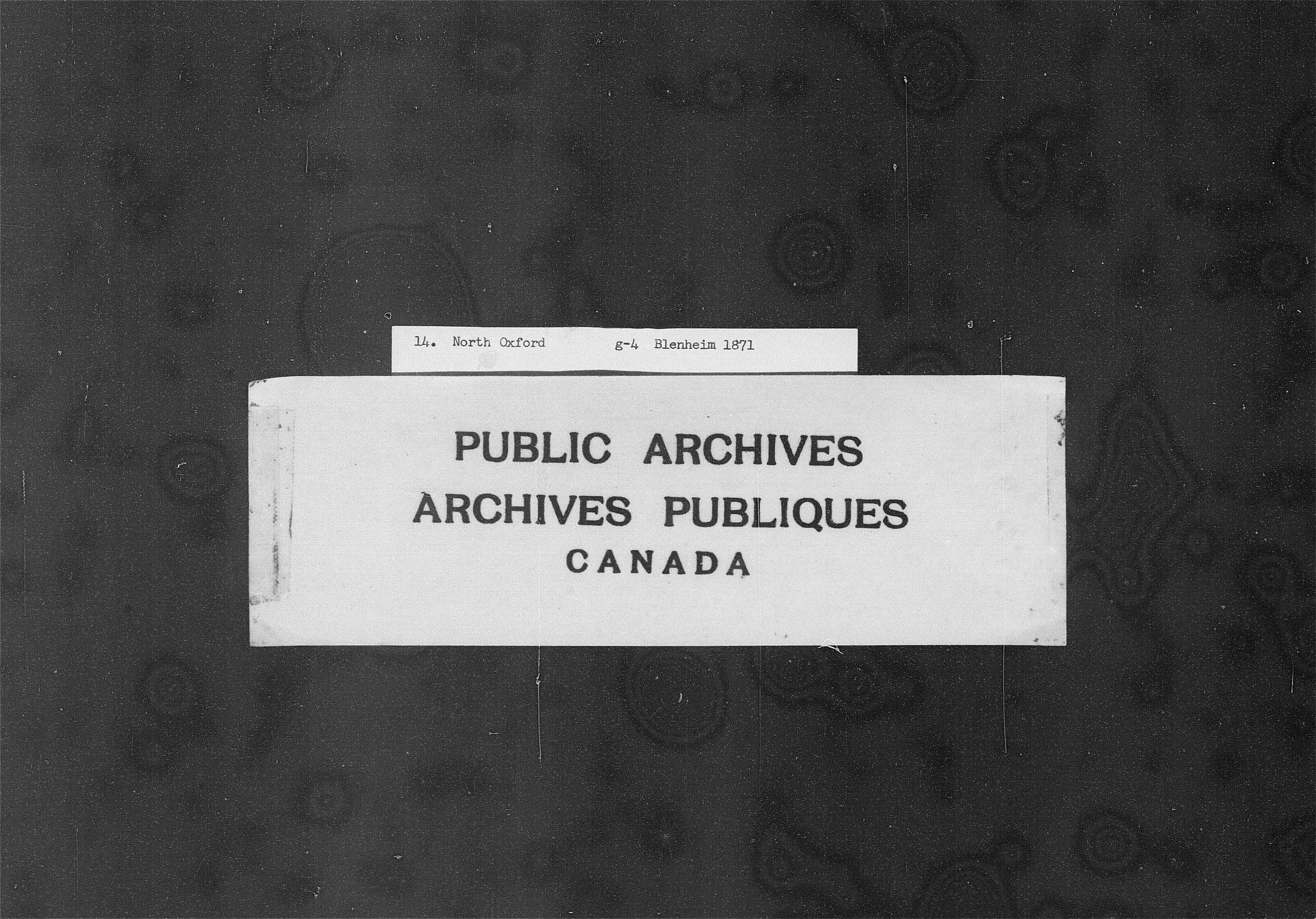Title: Census of Canada, 1871 - Mikan Number: 142105 - Microform: c-9913